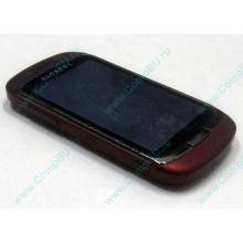 Красно-розовый телефон Alcatel One Touch 818 (Уфа)